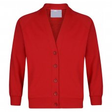 School Cardigan - Red