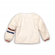 Redsox 7: Fur Crew Top With Sparkle Trim (3-8 Years)