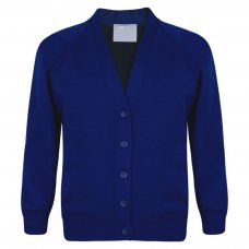 School Cardigan - Royal