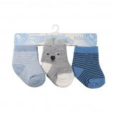 S164: Boys 3 Pack Socks (0-12 Months)
