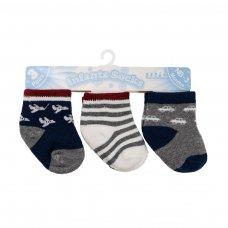S165: Boys 3 Pack Socks (0-12 Months)