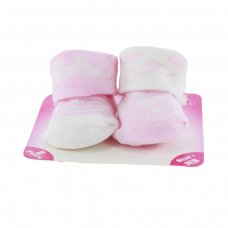 S201-P: Girls 2 Pack Socks (Newborn)
