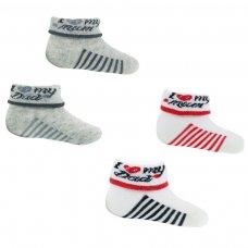 S288: I ♡ Mum/Dad Baby Socks (NB-6 Months)