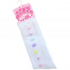 S39: Jacquard Knee-Length Socks (0-12 Months)