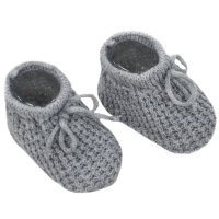 S401-G: Grey Acrylic Baby Bootees
