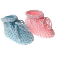 S401-P/B: Acrylic Baby Bootees