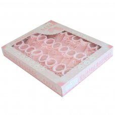 S401-P: Pink Acrylic Baby Bootees