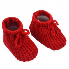 S401-R: Red Acrylic Baby Bootees