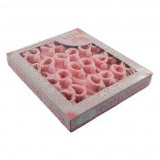 S408-P: Pink Acrylic Pom Pom Baby Bootees