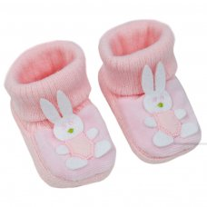 S423: Pink Acrylic Turnover Baby Bootees