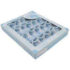 S424: Blue Acrylic Turnover Baby Bootees