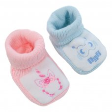 S426: Acrylic Turnover Baby Bootees