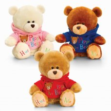 SB0750: 20cm Pipp the Bear with Hoody (3 Colours)