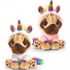 SD2496: 20cm Pugsley Rainbow Unicorn (2 Styles)