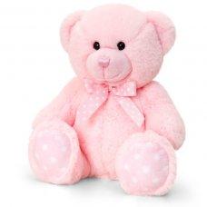 SN0777: 25cm Baby Spotty Bear- Pink