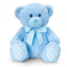 SN0778: 25cm Baby Spotty Bear- Blue
