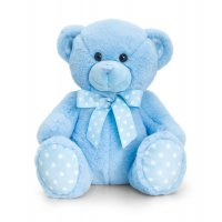 SN0781: 35cm Baby Spotty Bear- Blue