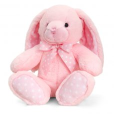 SN0784: 25cm Baby Spotty Rabbit - Pink