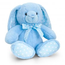 SN0785: 25cm Baby Spotty Rabbit - Blue