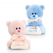 SN0790: 14cm Nursery Pipp the Bear with Blanket (2 Colours)