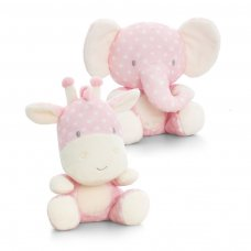 SN0855: 20cm Spotty Pink Wild Animals