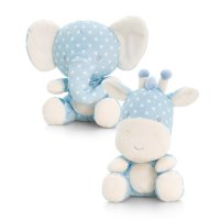 SN0856: 20cm Spotty Blue Wild Animals