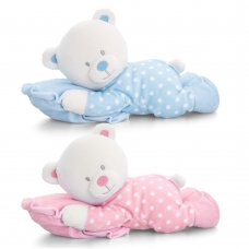 SN1192: 25cm Baby Bear on Pillow (2 Colours)