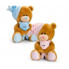 SN2510: 25cm Pipp The Bear Musical with Hat & Teddy (2 Colours)