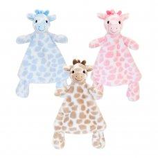 SN2650: 25cm Snuggle Giraffe Comforter (3 Colours)