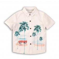 Springs 1P: Short Sleeve Shirt With Front Print (3-8 Years)