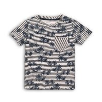 Springs 4: All Over Print Palm Tree Striped T-Shirt (9 Months-3 Years)