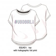 Squad 1: Loose Fit Printed T-Shirt (3-8 Years)