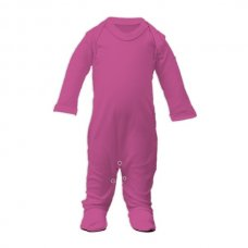 SS4-Cerise: Plain Cotton Sleepsuit (Newborn)
