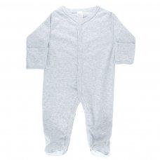 SS4664-G: Plain Grey Sleepsuit (0-6 Months)