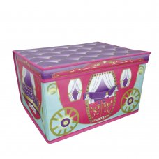 STO150012: Girls Princess Carriage Jumbo Storage Chest