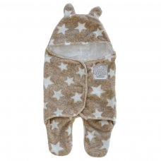 SW100-BR: Brown Star Swaddle Wrap