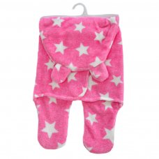 SW100-P: Pink Star Swaddle Wrap