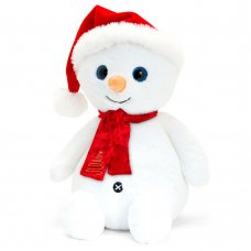 SX1750: 20cm Snowman With Hat & Scarf