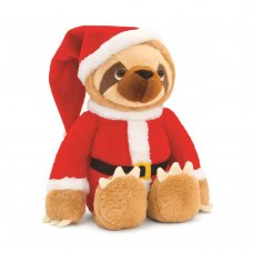SX1803: 18cm Sloth With Santa Outfit