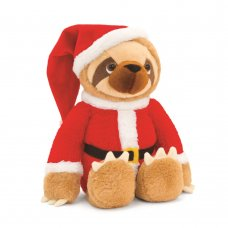 SX1816: 25cm Sloth With Santa Outfit