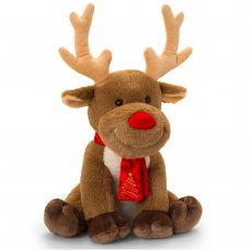 SX2663: 25cm Christmas Reindeer With Scarf