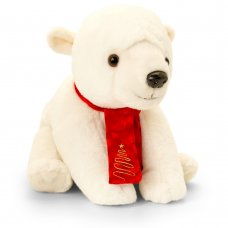 SX2666: 25cm Polar Bear with Scarf