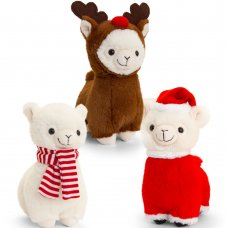 SX2676: 20cm Llama with Christmas Outfit (3 Designs)