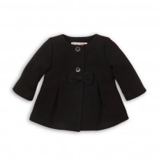Squirrel 9: Faux Wool Coat With Bow (0-12 Months)
