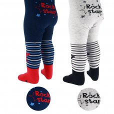 T152: Rock Star Print Fashion Tights (NB-12 Months)