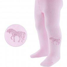 T48-P: Plain Pink Tights w/Unicorn (NB-24 Months)