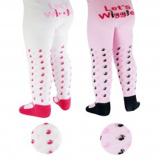 T70: Lets Wiggle Print Fashion Tights (0-18 Months)