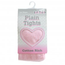 T82-P: Plain Pink Cotton Tights (NB-5 Years)