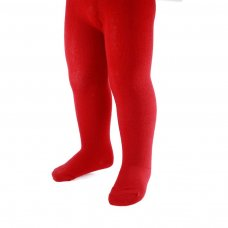 T90-R: Plain Red Cotton Tights (NB-12 Years)