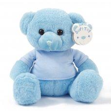 TB325-B: 25cm Blue Teddy Bear w/T Shirt